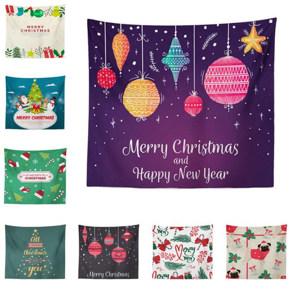 Tapisseries De Noël De Noël Art Maison Tenture murale Tapisserie Ornementation De Noël Décoration Murale De Tapisserie Décor À La Maison