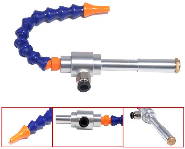New 130mm Gold Air Gun+Flexiable Tube Vortex Cold and Hot Air Dry Cooling Gun Tool Accessory