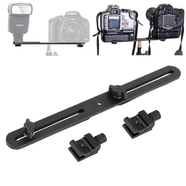 Freeshipping Supporto doppio per supporto luce universale Supporto flash Supporto per treppiede con 2 viti adattatore per slitta per fotocamera digitale SLR NOVITÀ
