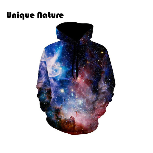 Unique Nature Space Star Sweatshirts Long Sleeve Pullover Mens Fashion Outwear Tracksuits Harajuku Style Streetwear