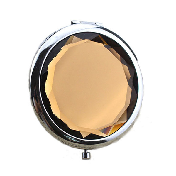 2018 Portable Lady Pocket Crystal Makeup Mirror Round Double Sides Folding Make Up Compact Mirrors Best Gifts