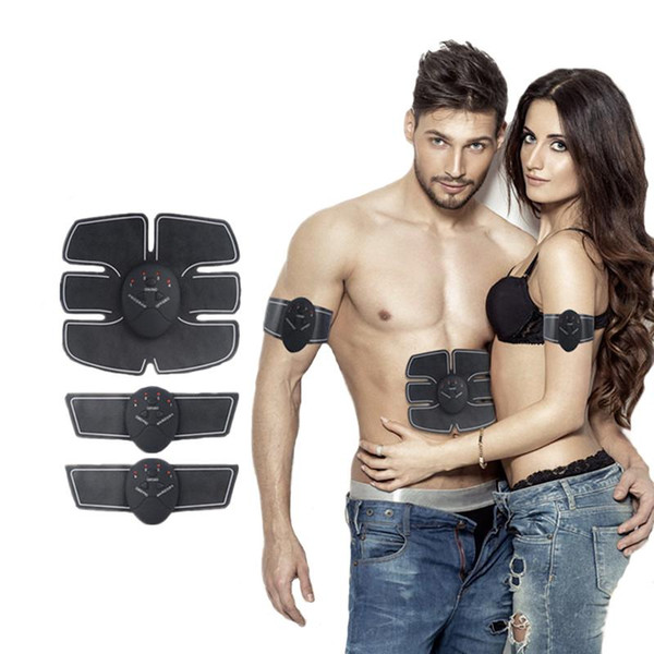 top popular Wireless Muscle Stimulator EMS Stimulation Body Slimming Beauty Machine Abdominal Muscle Exerciser Training Device Body Massager 2020