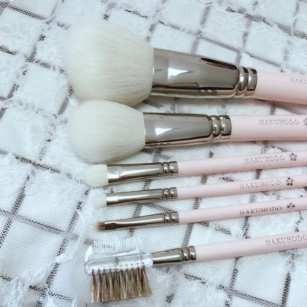 HAKUHODO Cherry Blossom 6Piece Makeup Brush Set Wool Hair -531 Powder 110 Blush 004 Eyeshaow 149 Smudge 264 Brow High Quality DHL