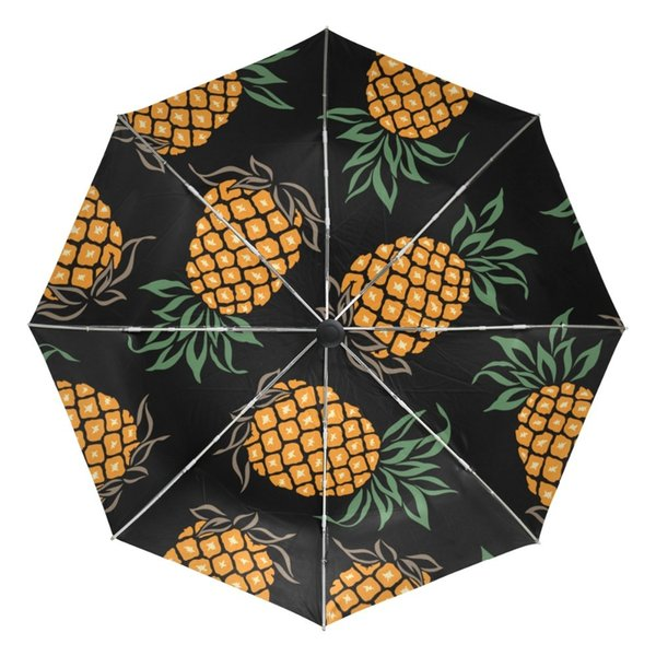 Non or Full Automatic Lightweight Fruit Pineapple Printed Umbrella UV Protection Women Foldable Sun Umbrella for Kids Female