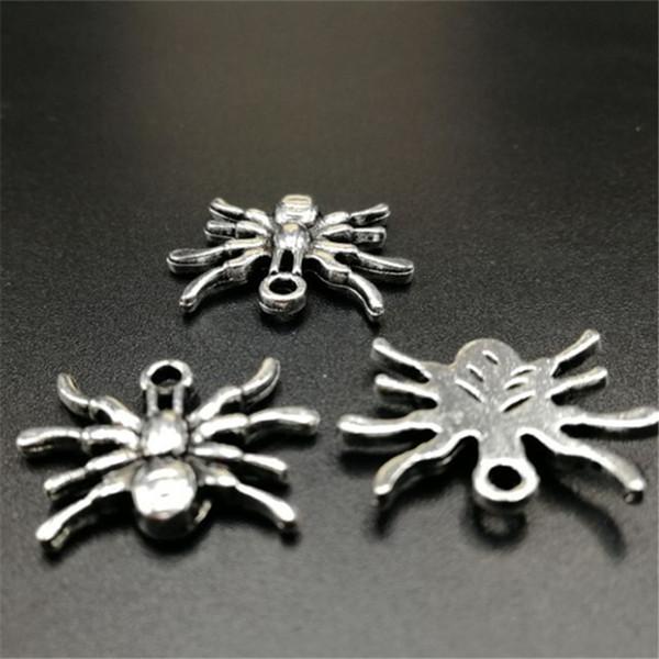 8 pcs araignée tibétaine en alliage d'argent pendentif breloque fabrication de bijoux