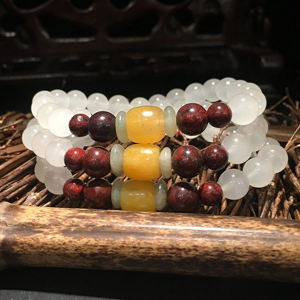 Wholesale High Yellow Guilin Chicken Blood Natural Stone Bracelets Luck for Women Men Bracelets Fresh Noble Simple Jewelry