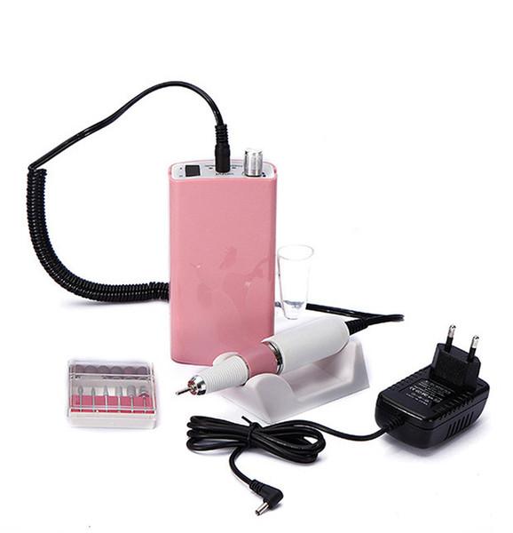 Máquina recargable portátil de 18W 30000 rpm taladro eléctrico de uñas Acrílico Lima de uñas Manicura Set de pedicura