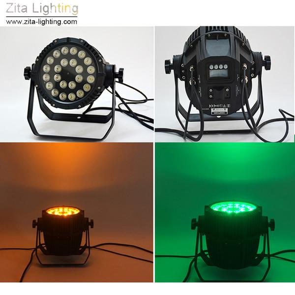 4pcs / lot zita allumant des lumières de pair de LED d'étape extérieure peut allumer des ampoules imperméable à l'eau IP65 24X10W RGBW DMX 512 projecteur de mur de construction de rondelle