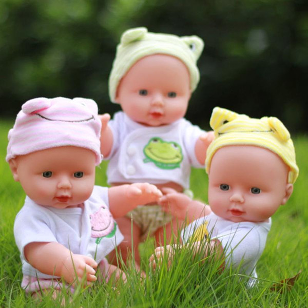 best selling 30cm Newborn Reborn Doll Baby Simulation Soft Vinyl Dolls Children Kindergarten Lifelike Toys for Girls Birthday Gift