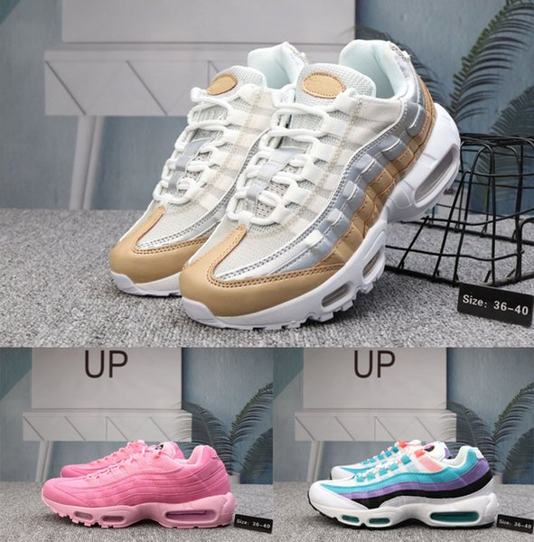 check out c37ae 39f94 2019 Hot Brand Fashion 95 X Foot Locker Women Running Shoes Luxury Air  Casual Sport Trainers Girl Pink Yellow Blue Designer Sneakers Men Shoes  Online ...