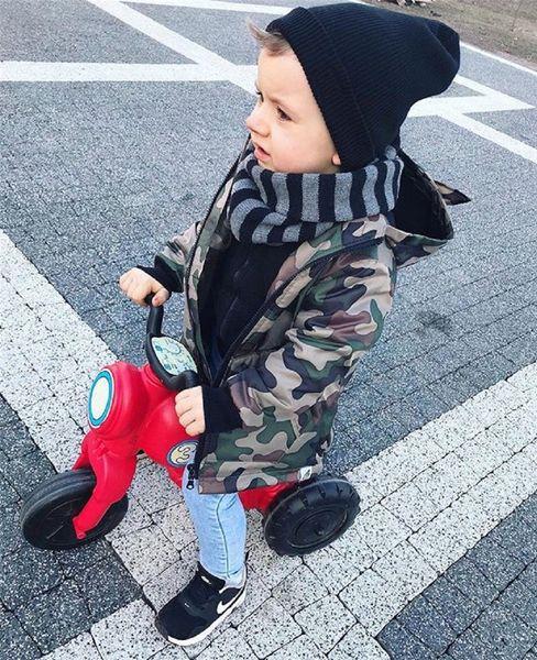 Toddler Kid Baby Boy Camouflage Dinosaur Coat Jackets Long Sleeve Warm Zip Up Boys Hooded Coats Autumn Winter Outwear