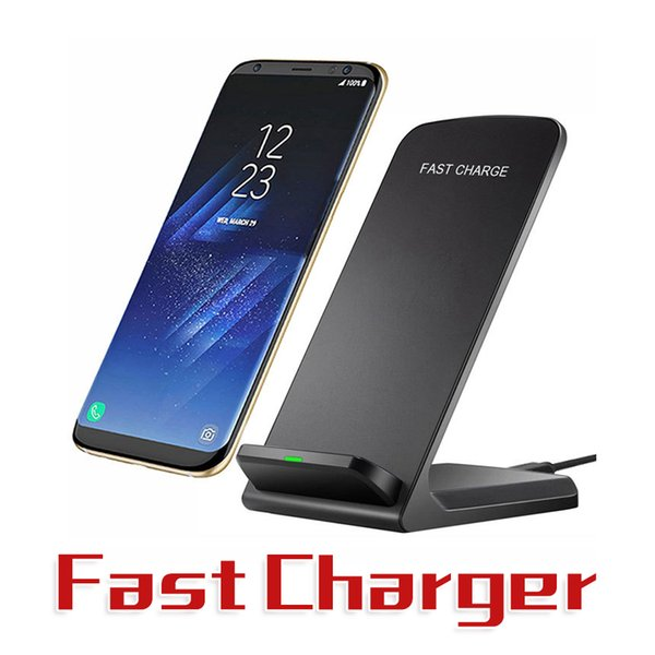 Caricabatterie wireless rapido da 10 W 9V per iPhone X 8 Caricabatterie wireless Qi Caricabatterie wireless veloce per Samsung S8 S7 S6 Edge Top