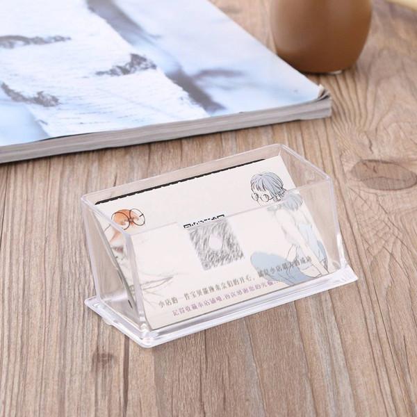Großhandel Thh000900 Klare Desktop Visitenkartenhalter Ausstellungsstand Acryl Kunststoff Schreibtischregal Von Morelure 2 92 Auf De Dhgate Com