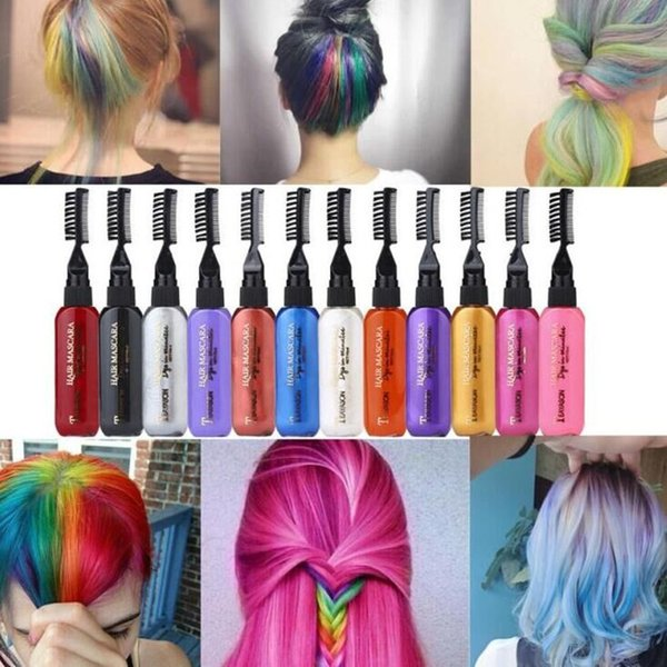 One Off Hair Color Dye Temporary Non Toxic DIY Hair Color Mascara Washable  One Time Hair Dye Crayons Latest Hair Colour Trend Latest Hair Colours For  ...