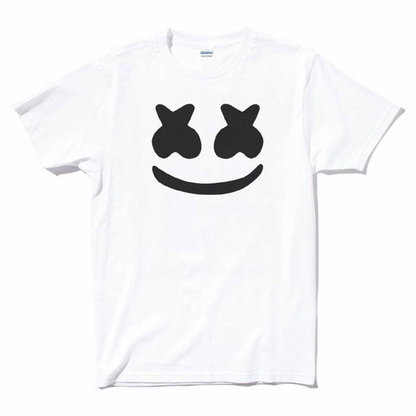 Marshmello Face white t-shirt DJ Party EDM Mello Logo House Dacne Music Tees Custom Jersey t shirt
