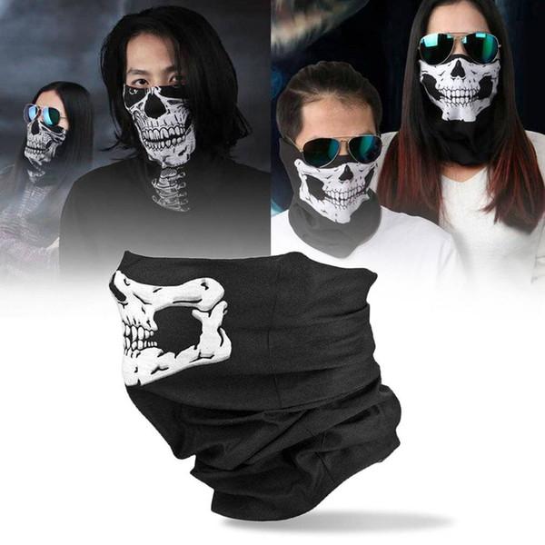 New Black Skull Balaclava Traditional Face Protective Head Cover Mask Gator Black NWT Head Face Mask