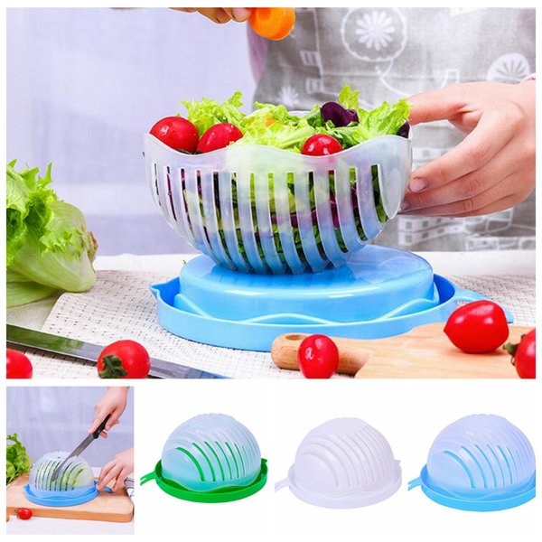 60 Seconds Salad Maker Bowl Vegetable Fruits Cutter Slicer Easy to Make Healthy Fresh Salad Kitchen Tools OOA5007