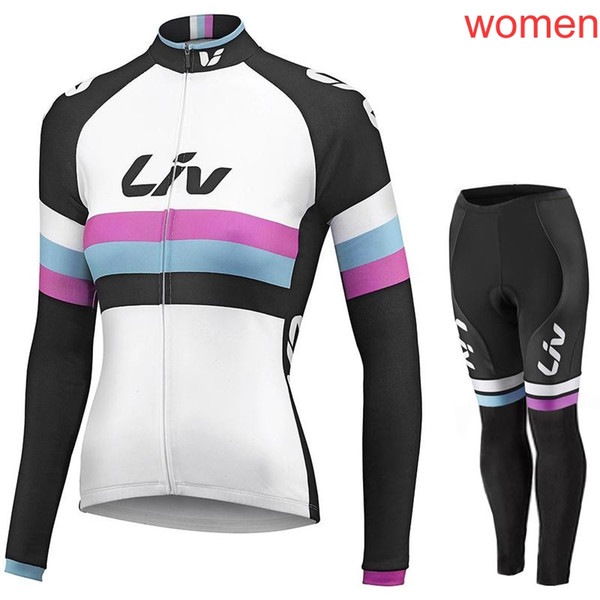 Das LIV Team, das lange Hülsenjersey (Schellfisch) radfährt, keucht die Sätze, die Jersey Frühlings-Herbstsportklage radfahren Heiße Verkaufs-Fahrrad-Kleidung c1411