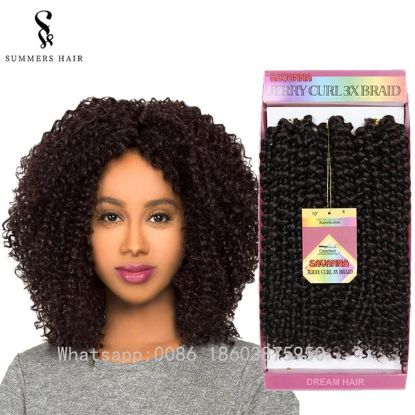 10 Short Jerry Curly Crochet Braids Hair Extensions Synthetic Freetress Latch Hook Hairstyle Lace Front Wig Caps For Wig Making Lace Cap For Wig