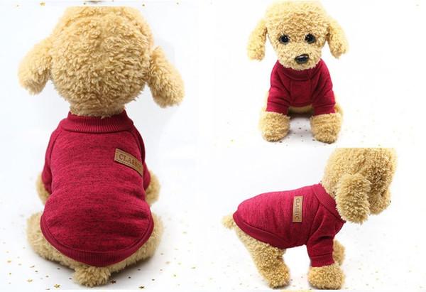 Классика Собака Свитер Пальто Одежда Осень Теплый Оборонительный Холодный Хлопок Щенок Кошка Вязание Собаки Sweatershirt Одежда
