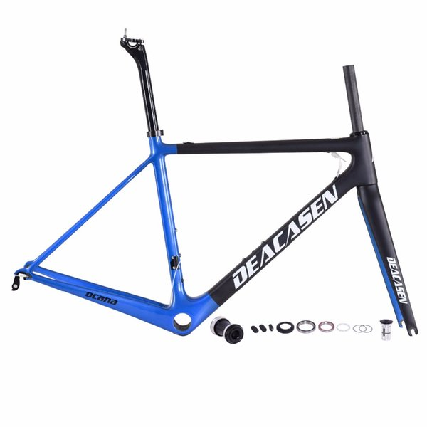 DEACASEN 2018 best value Carbon Road Bike Frame Di2 and Mechanical Super Light frame+ fork+ Seatpost+clamp+Headsets carbon bicycle for sale