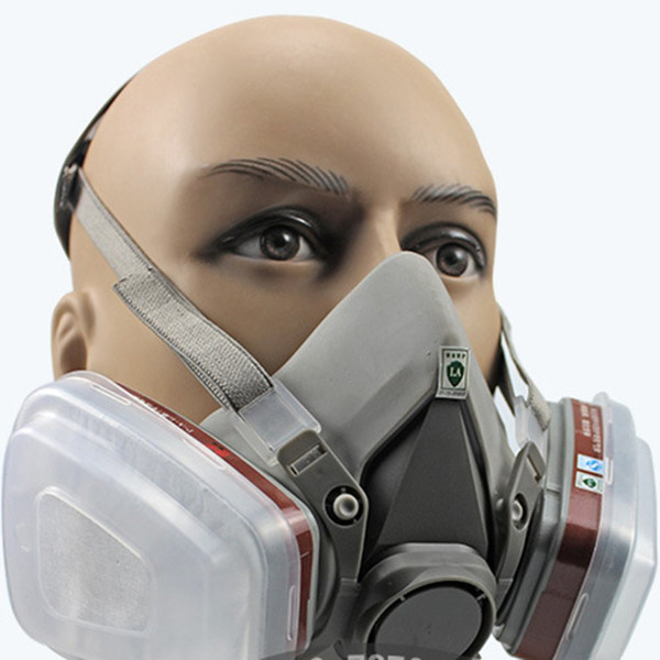 Professional Full Face Facepiece Respirator For Painting Spraying Work Safety Masks Prevent Organic Vapor Gas Drop shipping