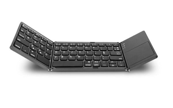 Bewegliche mini zweimal faltende Bluetooth Tastatur 2018 neuer heißer guter Spitzenverkauf