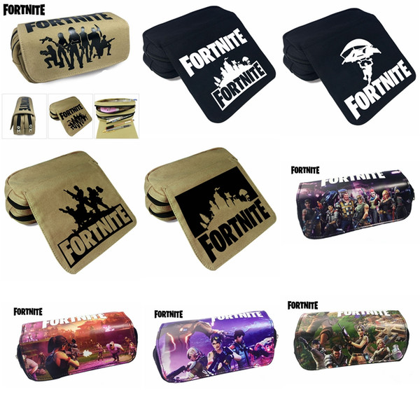 13 design wallet Fortnite Pencil Bag Cartoon Pencil Cases Stationery Storage Bag School Office outdoor bags Kids Gift Purse MMA335