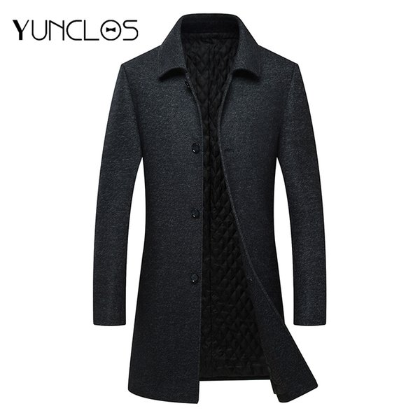 Großhandel YUNCLOS Herren Wollmantel Winter Woolen Lange Jacke Einreiher England Style Mantel Manteau Homme Mantel Wollmantel Von Honey333, $94.9 Auf