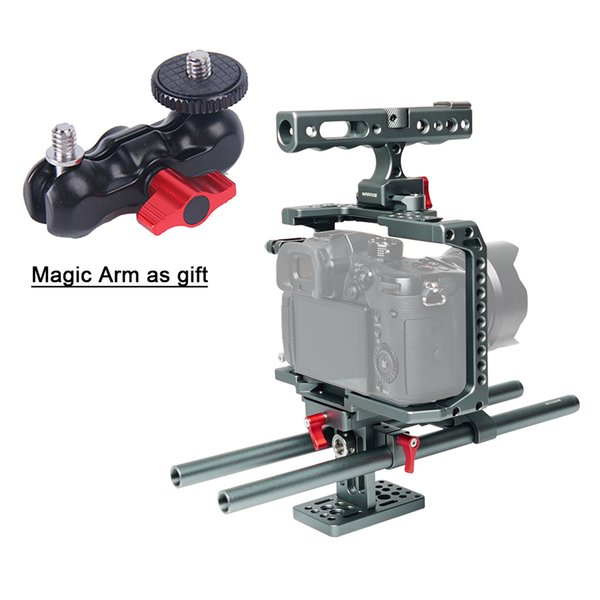 Professional Photography Rabbit Video Camera Cage Kit Suite for Panasonic GH4 GH5 with catheter dedicated base chute