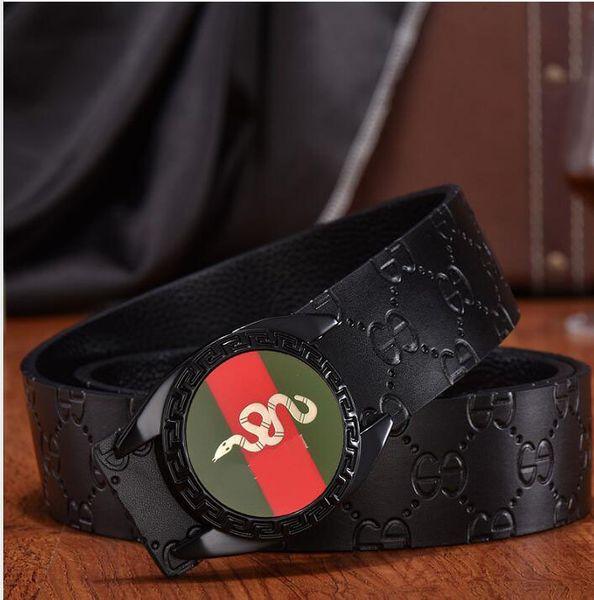 2018 Men's Belts Luxury buckle genuine leather belts for men designer men's belt women waist belts free shipping A4