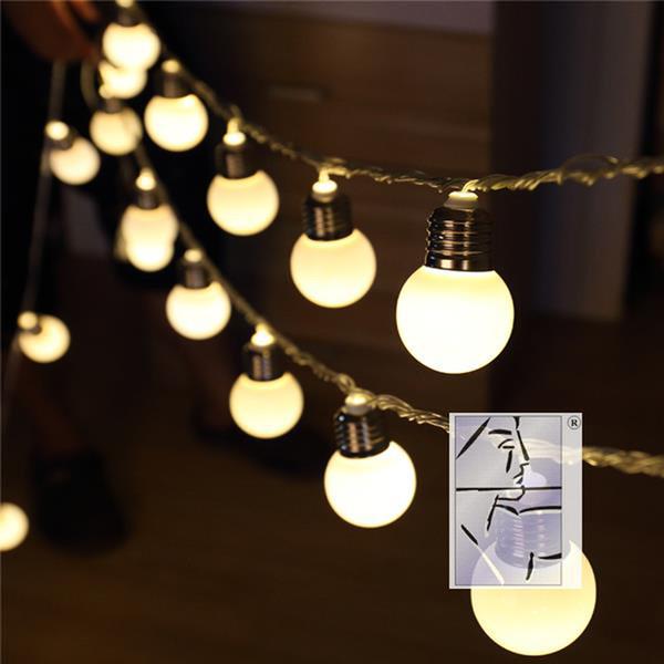 E27 Impermeabile 10m LED String Ball Lights Ghirlanda per tende Lampade di grandi dimensioni fata matrimonio Indoor Outdoor Christmas Holiday Lighting