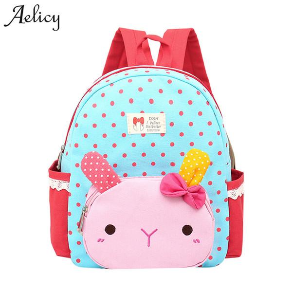 Aelicy Children School Backpack Cartoon Design Soft Material For Toddler Baby Girls Kindergarten Kids School Bags