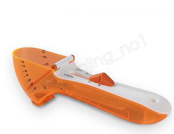 Cuchara de medición ajustable de plástico con escala 5ml-30ml taza de medición de la cocina herramienta de medición para ingredientes secos y líquidos GGA621 100pcs