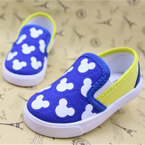Koovan Baby Sneakers 2018 Children's Boys Girls Baby Canvas Shoes Cartoon Mouse Soft Board Loafers First Walker Toddler Shoes