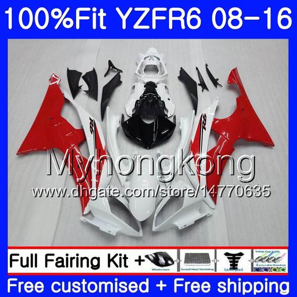 Inyección Para YAMAHA YZF R6 YZF-600 YZFR6 Blanco brillante 08 13 14 15 16 234HM.44 YZF 600 R 6 YZF600 YZF-R6 2008 2013 2014 2015 2016 Carenados
