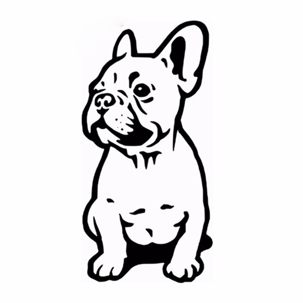 Home Decoration Stickers Posters Wall Stickers FRENCH BULLDOG WALL STICKER CAR BUMPER STICKER FRANCES DOG VINYL DECALS
