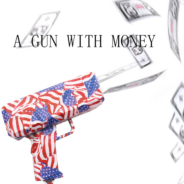 2018 Newest Cash Cannon Money Gun Decompression Bills Fashion Party Gift Game Christmas Funny Pistol Kid Toys