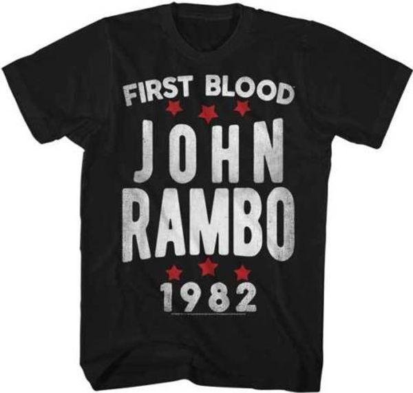 Detalhes zu Rambo Primeiro Sangue John Rambo 1982 Adulto Camiseta Grande Filme Engraçado frete grátis Unisex Casual tee presente