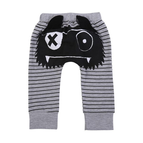 Children Cute Pants Kids Boys Girls Cotton Blend Trousers Stripe Printing Pants 2017 Spring And Autumn Fashion Baby Trousers
