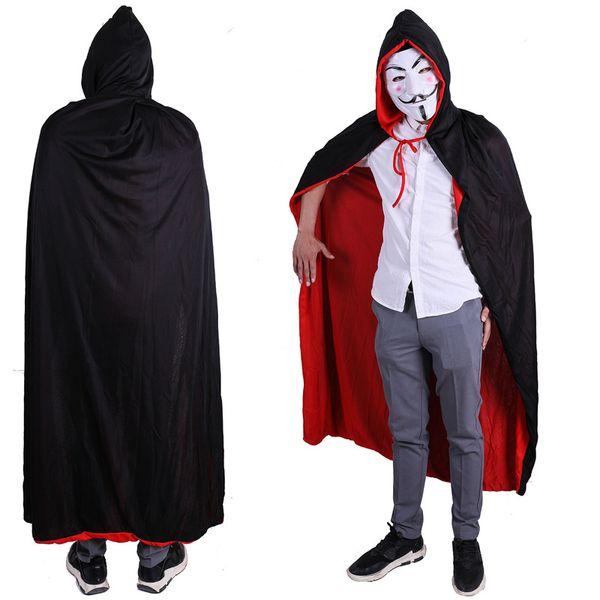 Halloween Costumes for Women Costume Halloween Cloak Red Black Men Death Devil Cloak Child Adult Party Clothes 9.20