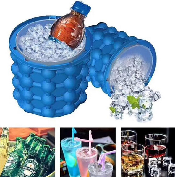 top popular The Revolutionary Space Saving Ice Cube Maker Kitchen Tool Ice Buckets Silicone Irlde Ice Genie Hot Sale 33my C 2021
