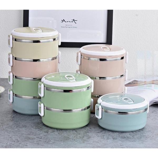 Hohe Qualität Wärmedämmung Lunchbox Lebensmittel Lagerung Thermische Mittagessen container 304 Edelstahl Bento Box Portable Picknick Lebensmittelbehälter