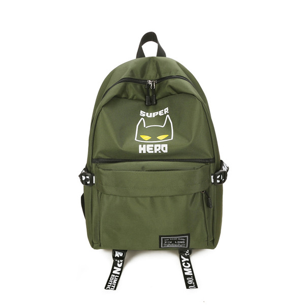 Japanese and Korean Casual Backpack Women Men Fashion Oxford Cartoon Backpack Students School Bag Travel