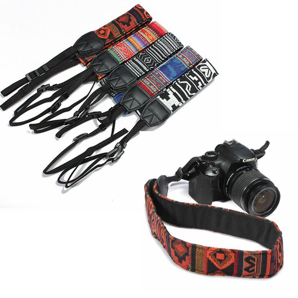 top popular 5 Colors Colorful Camera Shoulder Neck Strap Belt Ethnic Style Camera Belt For SLR DSLR Nikon Canon Sony Panasonic AAA232 2021