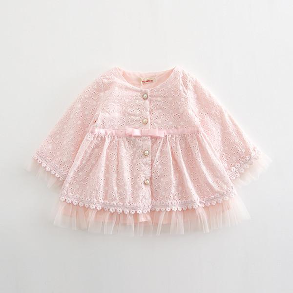 En gros 5 pcs / lot 2018 Automne Bébé Filles Robe Infantile Vêtements Angleterre Style Dentelle Robe Bébé Fille Pour Les Vêtements Nouveau-Né