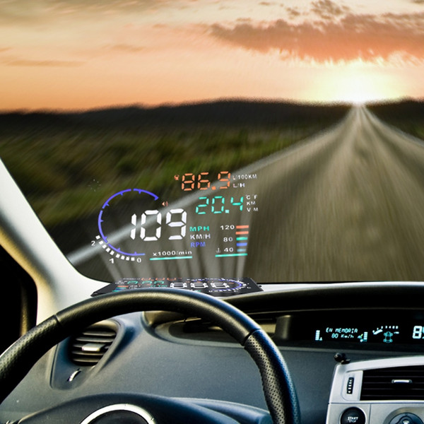 Car speed projector on Windshield Auto HUD Head Up Display Overspeed Alarm Safe Driving OBD2 Digital Car Speedometer Accessories