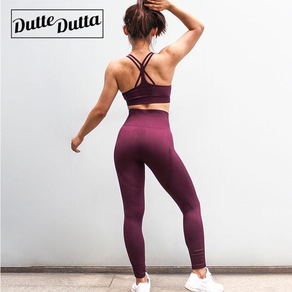 Ensembles d'entraînement Sport Costume Vêtements Sport Bra Vêtements Pour Femmes Sportswear Femme Gym Fitness Vêtements Yoga Set Survêtement Vêtements Active