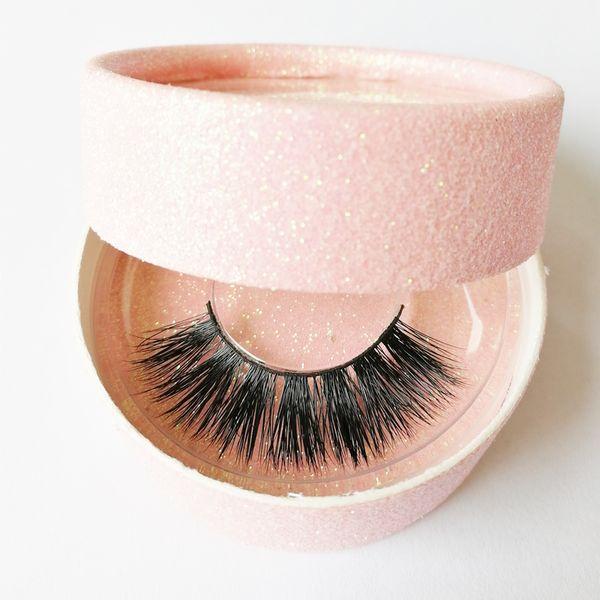 private logo 3D mink Eyelashes 3D mink false Lashes Luxury Hand Made False Eyelashes handmade reusable luxurious full strip lashes gr92