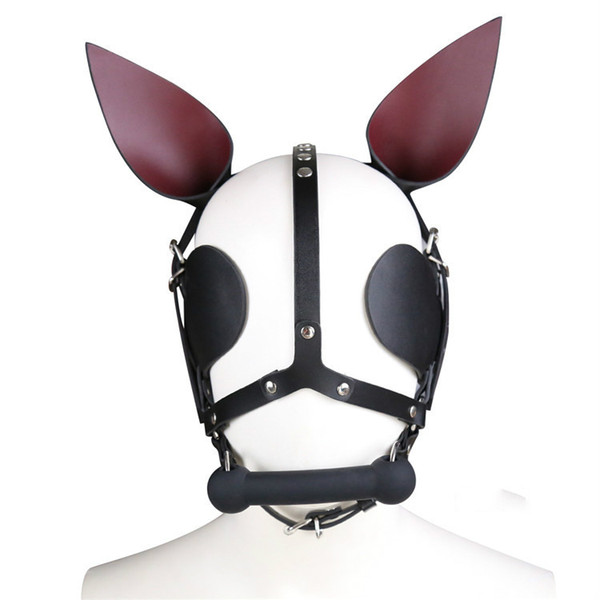 latest harness dog bone mouth gag stick stopper bdsm bondage gear restraints eye mask ear decoration adult sex toys for women GN312400048